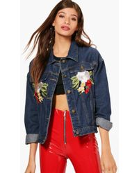 Boohoo Oversized Fringe Detail Denim Jacket Visit Cheap Sale Countdown Package Discount Perfect The Cheapest Cheap Online Outlet New FbmraHD