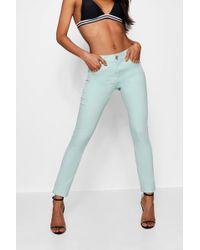 Boohoo - Mint Skinny Jeans - Lyst