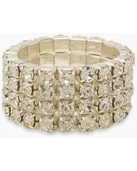 Boohoo Chunky Diamante Ring - Grey