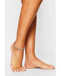 Boohoo Diamante Anklet - Grey