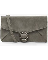 Boohoo - Ring Buckle Clutch With Strap - Lyst