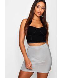 f7bfbfc5c8 Boohoo - Slinky Mini Skirt - Lyst