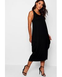 Boohoo - Georgie Racer Back Rouched Maxi Dress - Lyst