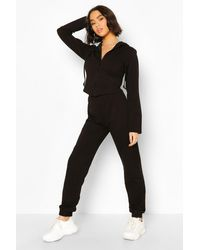 Boohoo Fitted Zip Through Tracksuit - Black