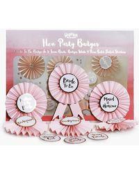 Boohoo Ginger Ray Team Bride Rosette Badge Kit 6pck - Pink