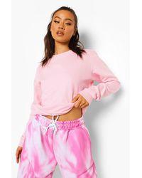Boohoo Pink Basic Sweatshirt