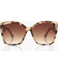 Boohoo Oversized Tortoise Shell Sunglasses - Natural