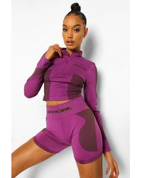 Boohoo - Womens Ofcl Seamfree Contour Cycling Shorts - Lyst
