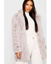 Boohoo - Boutique Faux Fur Coat - Lyst