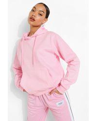 Boohoo Womens Basic Hoodie Zum Überziehen - Pink