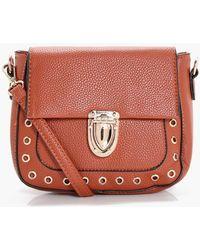 Boohoo | Lola Eyelet Saddle Bag | Lyst