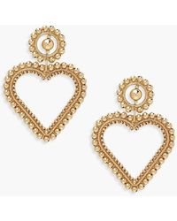 Boohoo 9cm Statement Heart Earrings - Metallizzato