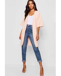Boohoo Kimono Sleeve Duster Jacket - Multicolour