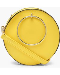 Boohoo - Molly Ring Detail Round Bag - Lyst