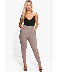Boohoo Plus Pleat Front Trousers - Black