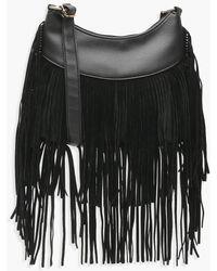 Boohoo - Tassel Hobo Cross Body Bag - Lyst