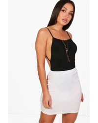 Boohoo - Leah Backless Strappy Slinky Body - Lyst