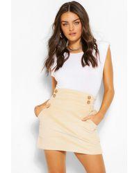 Boohoo Cord Pocket Mini Skirt - Multicolour