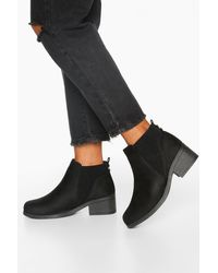 Boohoo Wide Fit Basic Chelsea Boots - Black