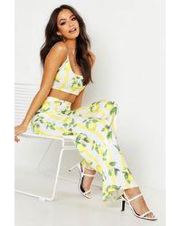 Boohoo - Fruit Stripe Print Bralette & Wide Leg Pants Co-ord - Lyst
