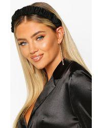 Boohoo Womens Satin Ruched Headband - Black