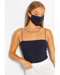 Boohoo Mascherina alla moda per il viso tonalità oltremare - Blu