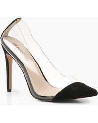 Boohoo - Asymmetric Clear Court Shoes - Lyst