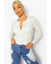 Boohoo Soft Knit Cardigan - White