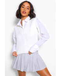 Boohoo Camiseta Sin Mangas De Punto - Blanco