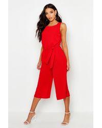 Boohoo Culotte Jumpsuit - Red