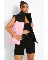 Boohoo Chaleco Con Bloques De Color - Rosa