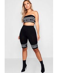 Boohoo Plus Queen Printed Cycling Shorts - Black