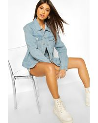 Boohoo Oversized Denim Jacket - Blue