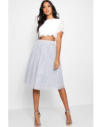 Boohoo Woven Lace Top & Two-piece Set - Grey