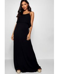 Boohoo - Tie Back Maxi Dress - Lyst