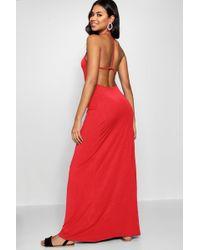 Boohoo - Strappy Back Maxi Dress - Lyst