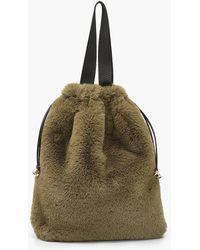 Boohoo Faux Fur Multiway Tote & Rucksack - Multicolour