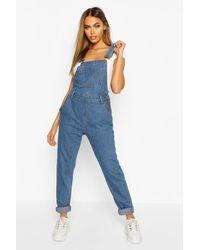 Boohoo Womens Jeans-Latzhosen - Blau