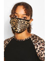 Boohoo Mixed Print Fashion Face Mask 5 Pack - Black
