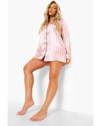 Boohoo Candy Stripe Nightshirt - Pink