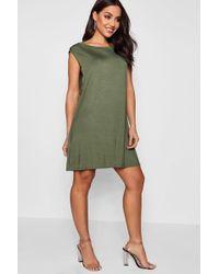 Boohoo - Drop Armhole T-shirt Dress - Lyst