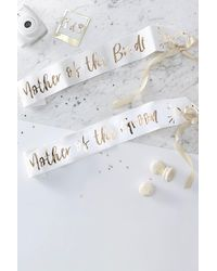 Boohoo Ginger Ray Mother Of The Bride Foil Sash 2pk - Metallic