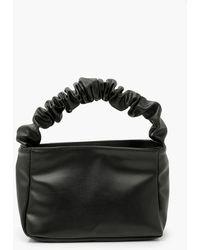 Boohoo Ruched Handle Grab Bag - Black