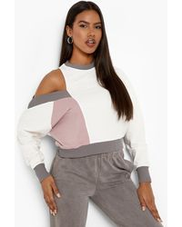Boohoo Colourblock Asymetric Sweatshirt - Multicolour