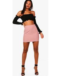 101606436 Lyst - Boohoo Cate Chiffon Pleated Full Mini Skirt in Purple