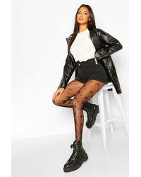 Boohoo Womens Star Fishnet Tights - Black