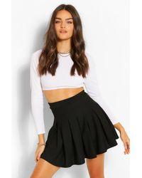 Boohoo Pleated Tennis Skirt - Black