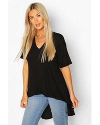 Boohoo Tall Basic Eclipse Hem T-shirt - Black