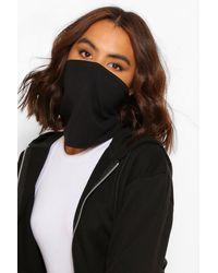 Boohoo Snood Fashion Face Covering - Black