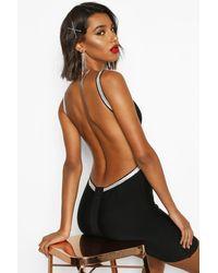 Boohoo Womens Rückenfreies Bandage-Minikleid mit Strass - Schwarz